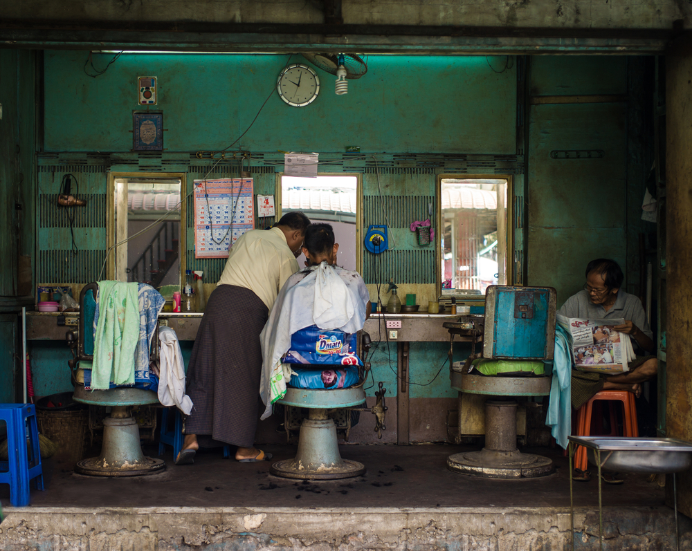 old barber shop in Yangon_263503517
