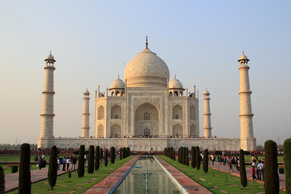 marble mausoleum Taj Mahal _453930364