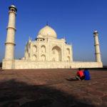 white marble mausoleum Taj Mahal _170104037