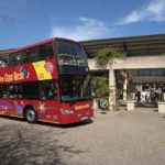 double decker tourist bus at the Kirstenbosch Botanic Garden_421401394