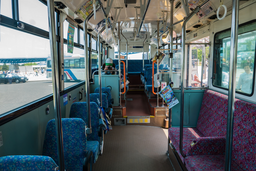 Interior of the Ibaraki Kotsu bus _472947715