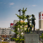 Statue at Katsuta Station_472947703