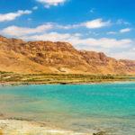 Dead Sea coastline in Israel_463442804