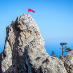 mount-ai-petri-with-a-red-flag-_477971857