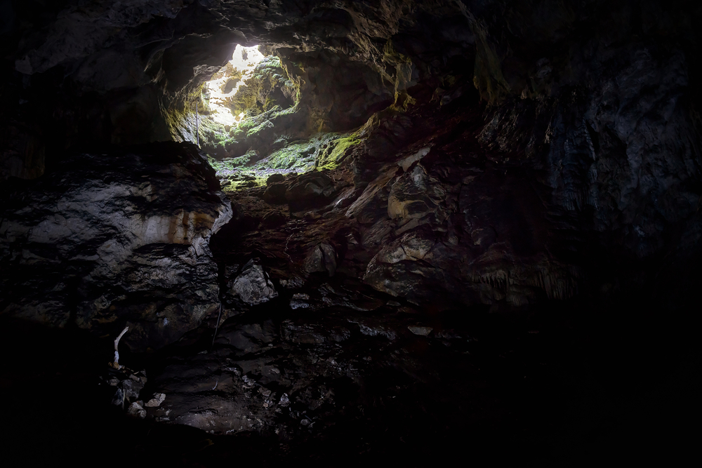 entrance-to-the-karst-cave-in-a-mountain_479232811