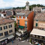 View of Piazza Castello from the Scaliger Castle in Sirmione_561401395