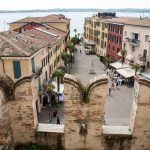 Piazza Castello from the Scaliger Castle in Sirmione, Lake Garda_561401359