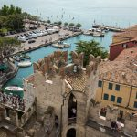 Sirmione and Lake Garda from Scaliger castle wall_516588949