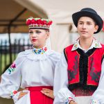 Ukraina School of Dance Ensemble teens dressed in traditional red Ukrainian_556481719