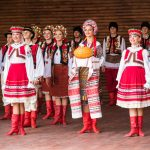 traditional red Ukrainian embroidered costume clothes_503570422