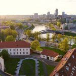panorama of Vilnius old town taken from the Gediminas hill_480352345