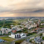Aerial view of Vilnius taken from a tv tower, Lithuania_240301090