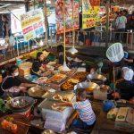 Wat Lampaya Floating Market Nestled along the Tha Jeen river in Nakhon Pathom_543391807