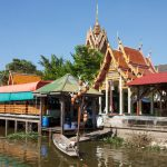 Wat Lampaya Floating Market Nestled along the Tha Jeen river in Nakhon Pathom_543391810