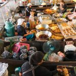 Wat Lampaya Floating Market Nestled along the Tha Jeen river in Nakhon Pathom _539167702