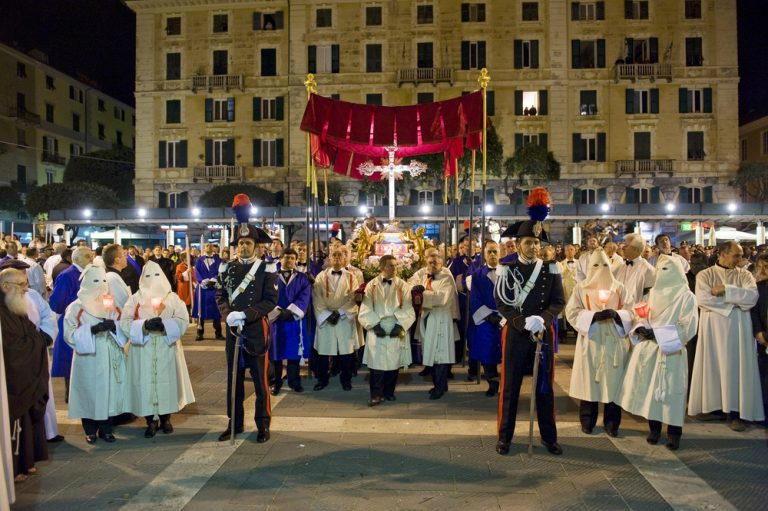 Good Friday procession in Savona, Traditional Christian Event in Italy