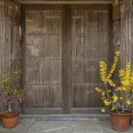 Door of traditional house in Kyoto, Japan_529362427