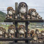 Tanuki sculpture at Kameoka Torokko Station in Kyoto_529250662