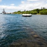 View from the USS Arizona in Pearl Harbor on the island of Oahu_529150021