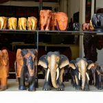 Sri Lankan traditional handcrafted goods for sale in a shop at Pinnawala elephant orphanage in Rambukkana_208488394