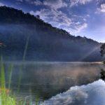 Sunrise time at Pang Ung lake, Pang Ung Mae Hong Son province_562187335