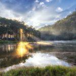 Sunrise time at Pang Ung lake, Pang Ung Mae Hong Son province_547268038
