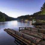 Twilight at Pang Ung lake, Pang Ung Mae Hong Son province_546604369