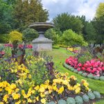 Parade Gardens, park with lawns and flower beds in Bath_356578160