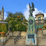 statue of angel from King Edward VII Memorial in Parade Gardens in somerset_322795970