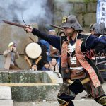 Ancient firelock rifle fighters at Marugame Historical battle Festival_522324532