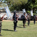 Ancient firelock rifle fighters at Marugame Historical battle Festival_331861862