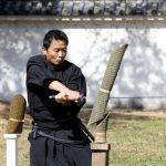 Katana sword fighters at Marugame Iai Festival_331843496