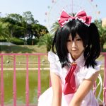 Japanese anime character cosplay pose in Anime Event in Kagawa 2014_220517422