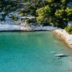 Sandy beach Porat on the island of Bisevo_494770468
