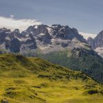Central Brenta mountain range as seen from Monte Spinale mountain plateau_570276286