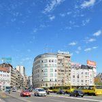 Belgrade old city entrance from the Branko Bridge_262874186