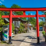 Sanko Inari Shrine at Inuyama Castle in Aichi Prefecture_550737844