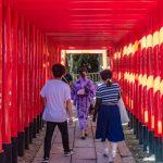 Sanko Inari Shrine at Inuyama Castle in Aichi Prefecture_550737901