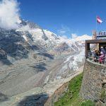 observation platform of Grossglockner Pasterze Glacier in Austria_581348602