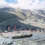 observation platform of Grossglockner Pasterze Glacier in Austria_581348617