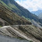 path at Grossglockner Mountain and Pasterze in Austria_581348557