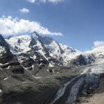 Grossglocker mountain area with snow in summer time. Pasterze Glacier_491290690