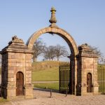 entrance gates to Lyme Hall, Lyme Park, Disley_581339866