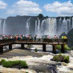Tourists at Iguassu Falls_586090079