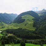 panoramic view into zillertal valley at gerlos road in tirol austria_579147313