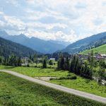 panoramic view into zillertal valley at gerlos road in tirol_579147337