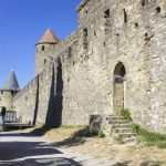Towers and walls of the Cite de Carcassonne_584942707