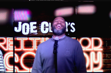 """Joe Clair emcees the """"Pretty Good Comedy"""" Show at District Live."""