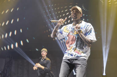 Chris Brown during the WGCI Big Jam at United Center on December 30, 2016, in Chicago, Illinois