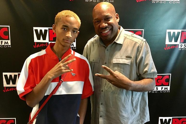 Jaden Smith and DJ Flexx at WPGC